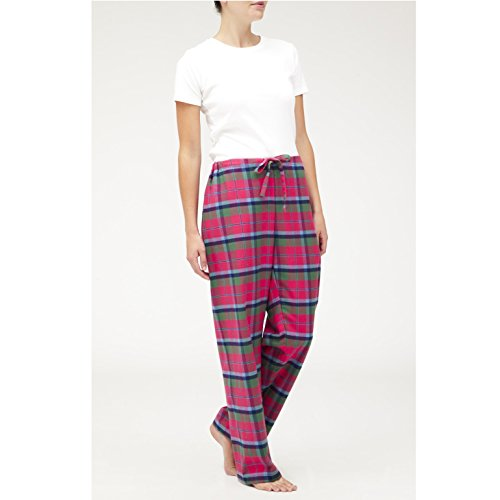 The-Irish-Linen-Store-Womens-Sarah-Brushed-Cotton-Pajama-Trousers-Tartan