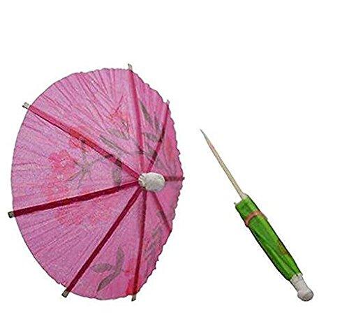 50pcs mixtes papier Cocktail parapluies parasols pour Tropical Party boissons, étiquette de fruits, vin Label- Cocktail Accessoires