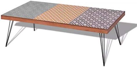 100% Origineel Festnight- salontafel woonkamer salontafel koffietafel bijzettafel woonkamermeubel 120 x 60 x 38 cm bruin 1C7mWz5