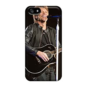 Protector Hard Cell-phone Case For Iphone 5/5s With Allow Personal Design Attractive Bon Jovi Band Image Marycase88