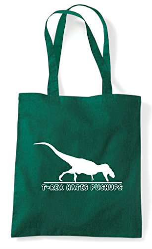 Tote Bag T Push Ups Green Shopper Rex Dark Funny Hates wXYZqx6Yg