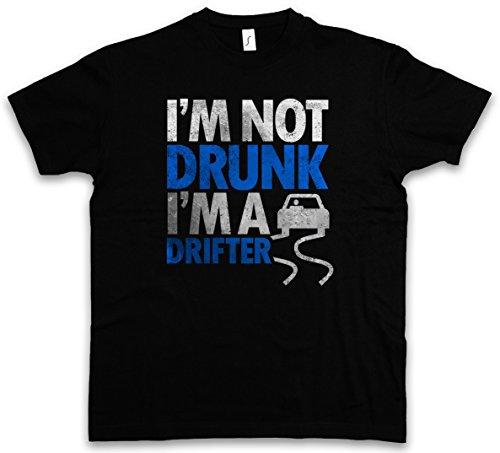 I'M NOT DRUNK I'M A DRIFTER T-SHIRT - Boose Hangover Barfly Party University Beer Whiskey Scotch Single Malt Bourbon Vodka Gin Tonic Cocktails Größen S