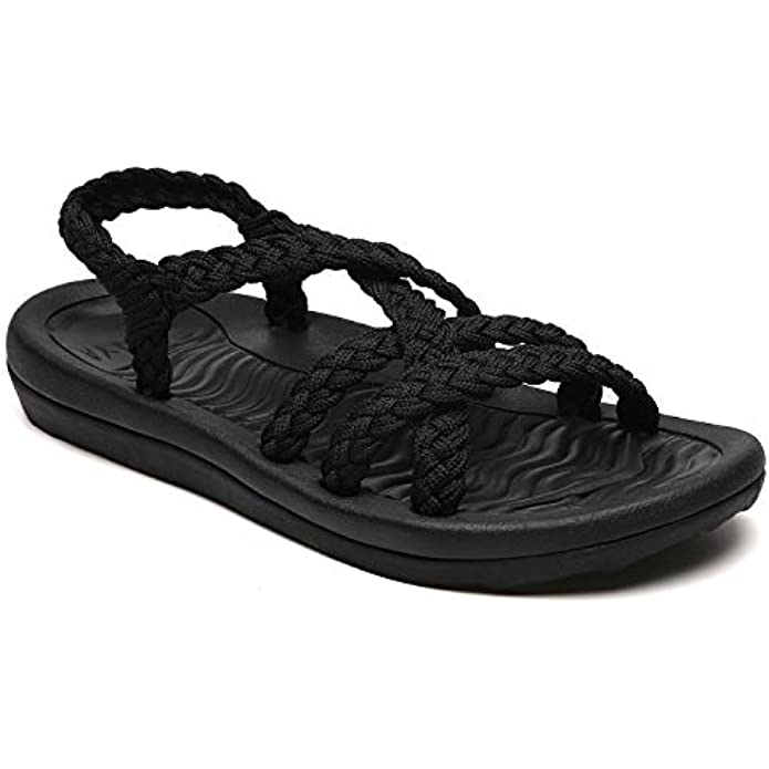 Women's Comfortable Walking Sandals with Arch Support, Athletic Hiking Sandals for women,Waterproof Water Sandals for Spot/Beach/Poolside/Cruise/Travel/Wedding