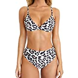 RUUHEE-Women-Leopard-Print-High-Waisted-Cheeky-2-Piece-Bikini-Bathing-Suits-SUS-Size-24Leopard