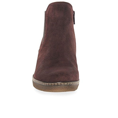 Suede Chelsea 42 Womens Eu Red Uk Dark 8 Lilia Boots Gabor vnEx6FTUqw