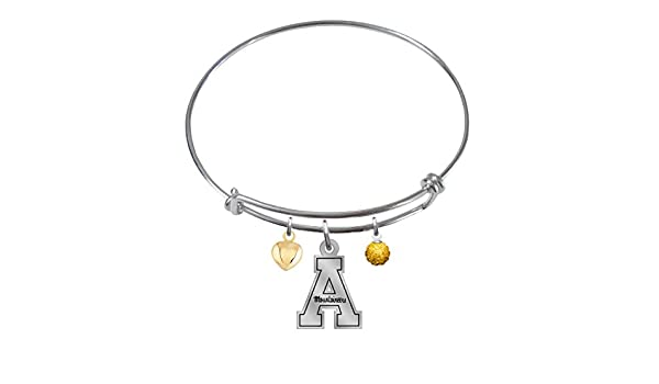 WinCraft NCAA Carded Heart Charm Bracelet Jewelry
