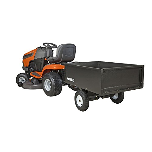 10cu ft Steel Dump Cart Garden Yard Wagon Lawn tractor Mower trailer Attachment by Nessagro (Image #2)