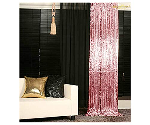ShinyBeauty 3FTX7FT-Sequin Backdrop-Curtain-Fuchsia Pink, 36X84-Inches Sequin Photography Curtain,Ready to Ship. (Fuchsia Pink) (Glitter Curtains Pink)