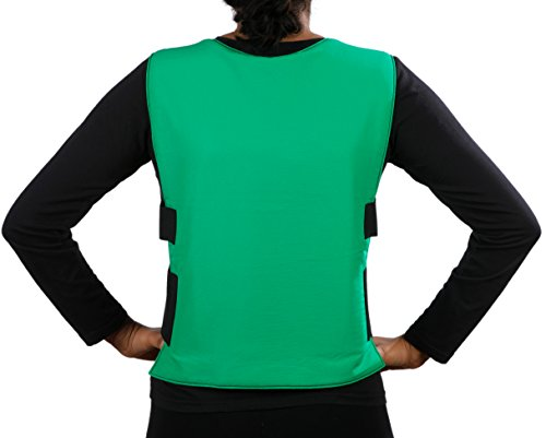 Glacier Tek Sports Cool Vest with Nontoxic Cooling Packs Green by Glacier Tek (Image #3)