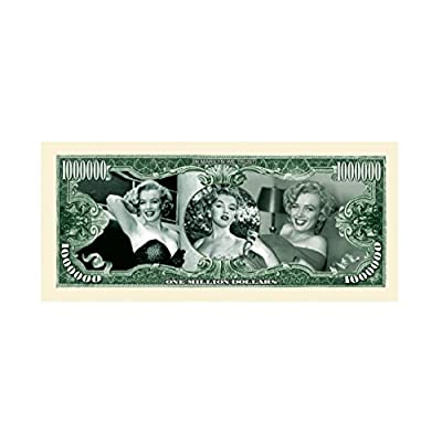 Marilyn Monroe Million Dollar Novelty Bill Play Money with Bill Protector: Toys & Games