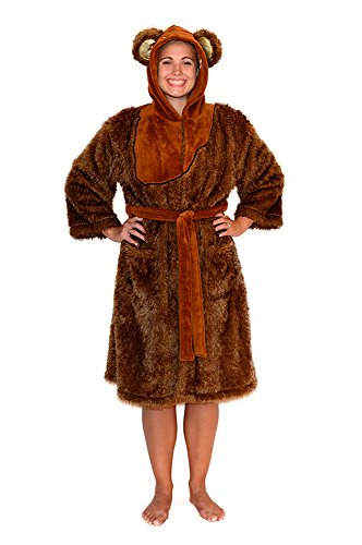 Star Wars Ewok Womens Fleece Costume Robe (Star Wars Chewbacca Costume)