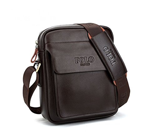 POLO FEILUN Men's Genuine Leather/PU Shoulder Bag Messenger Bags Business Briefcase Composite Leather Classic Casual Bag 9.0