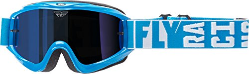 Fly Racing Men's Zone Turret Goggle (Blue with Blue Mirror/Smoke Lens, One Size)