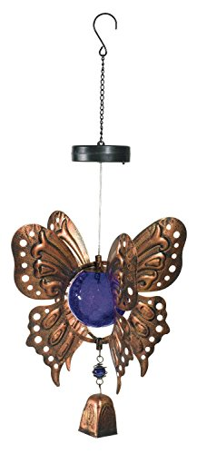 Grasslands Road Chime Solar Hanging Butterfly ~ Purple by Grasslands Road