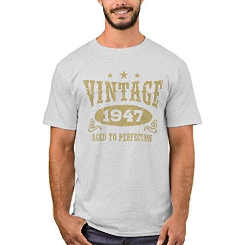 - Zazzle Men's Basic T-Shirt, Vintage 1947 T-Shirt, Ash S