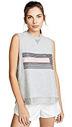 Adidas By Stella Mccartney Women S Logo Tank Medium Grey Heather Large