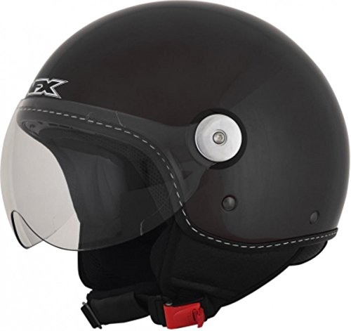 AFX 01060661 FX-33 Scooter Solid Helmet, Gender: Mens/Unisex, Helmet Type: Open-face Helmets, Helmet Category: Street, Primary Color: Black, Distinct Name: Gloss Black, Size: Sm