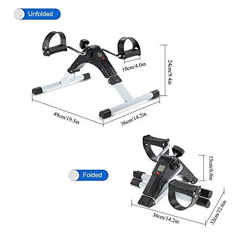 Tomshoo Portable Folding Exercise Peddler Arm Leg Fitness
