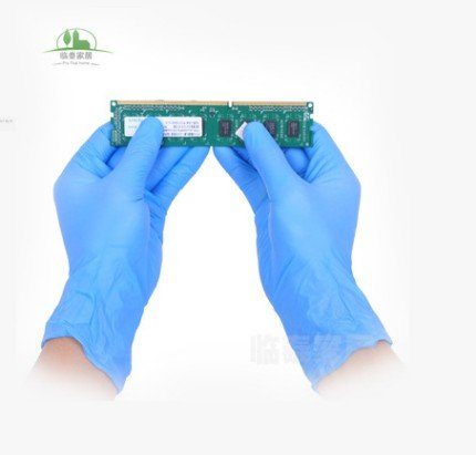 Nitrile Exam Gloves - Medical Grade, Powder Free, Latex Rubber Free, Disposable, Non Sterile, Food Safe, Indigo color (Medium) by DOWELL (Image #2)