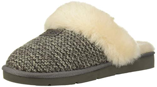 (UGG Women's W Cozy Knit Slipper, Charcoal, 8 M US)