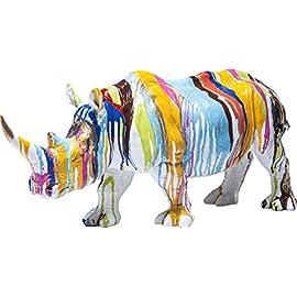 Kare Design – Rhino Colore – buntes Nashorn als schönes Accessoire für das Wohnzimmer