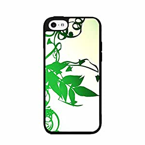 Green Vine Leaves TPU RUBBER SILICONE Phone Case Back Cover iPhone 4 4s