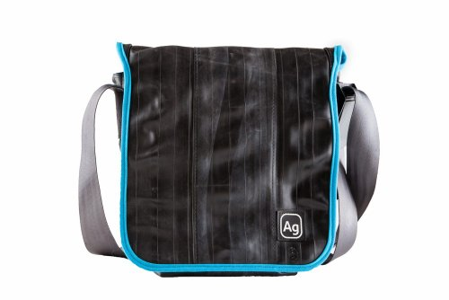 Alchemy Goods Haversack Messenger Bag, Made from Recycled Bike Tubes, Turquoise
