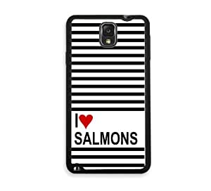 Love Heart Salmons Samsung Galaxy Note 3 Note III Case - Fits Samsung Galaxy Note 3 Note III