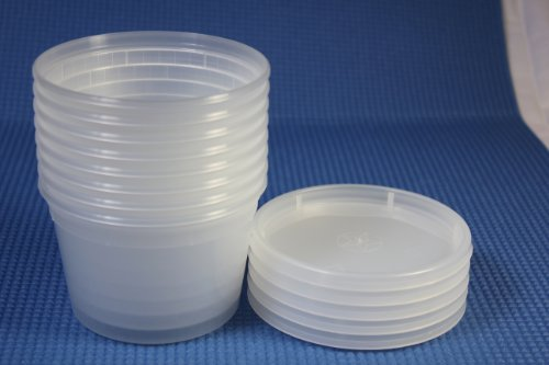 Deli Food Storage Containers with Lids, 16 Ounce, 50 Count