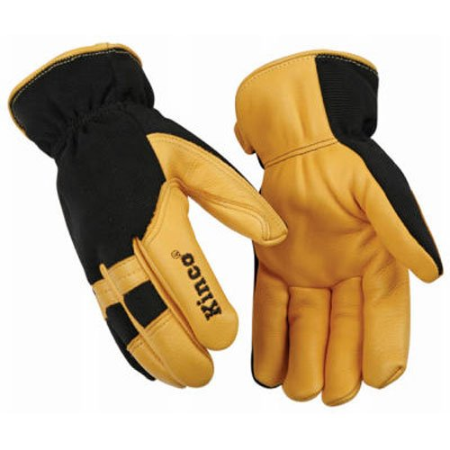 KINCO INTERNATIONAL 101HK L Large Mens Deerskin Glove - Ace Shirred Gloves