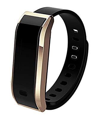 Demetory OLED Smart Healthy Bracelet Watch Wristband Heart Rate Sport Gym Fitness Tracker Passometer WristWatch Phone Mate Supports Android 4.3 or Above IOS 7.0 or Above