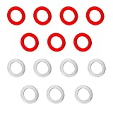 Game Room Guys Set of 14 Large Red/White Replacement Bumper Pool Rubber Rings