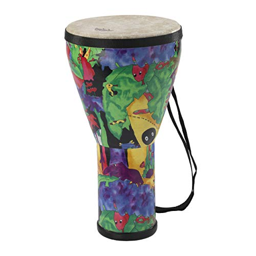 Small Djembe Drum - Remo KIDS PERCUSSION Djembe 8 Inch Rain Forest