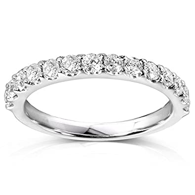 diamond wedding band 12 carat ctw in 14k white gold - 2 Carat Wedding Ring
