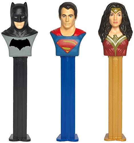 (PEZ Candy DC Justice League Dispenser Set: Batman, Superman, and Wonder Woman (Set of 3 Candy Dispensers))