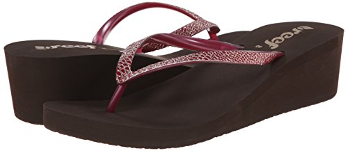 REEF - INFRADITO DONNA - KRYSTAL STAR SASSY - BROWN/BERRY - US 9 - EUR 40