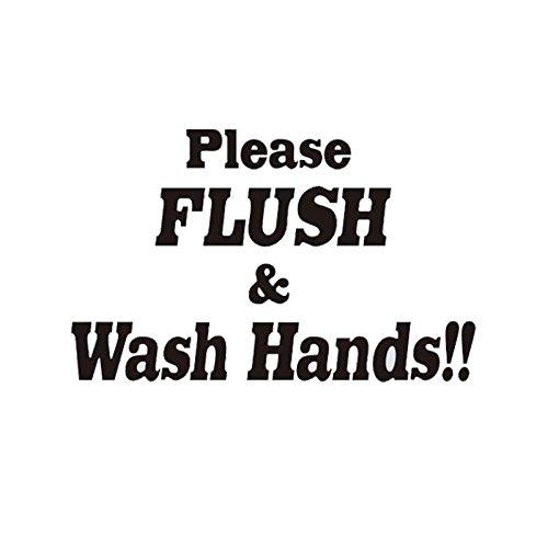 KGTHSS FILSH & Hände waschen!! Wc Badezimmer lustige Vinyl Sticker Home Decor Schwarz 4 WS-0035