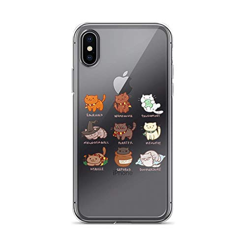 iPhone X/XS Pure Clear Case Cover Potter Cats Cute Harry Pawter Kitten Cat Lovers Owner Cat Mom