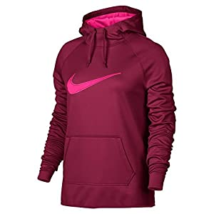 Nike Womens Therma Dri Fit Hooded Sweatshirt (Medium, Teal Green)