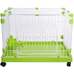 LQQFF Pet Training cage Dog cage Dog House high-Strength Wire Dog cage 60/7050 Portable Pen cage Fence (Size : 705060cm)