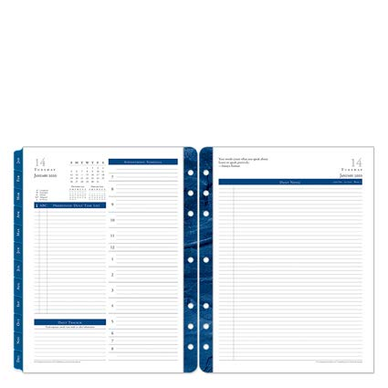 Monarch Monticello Daily Ring-Bound Planner - Jan 2020 - Dec 2020 by Franklin Covey