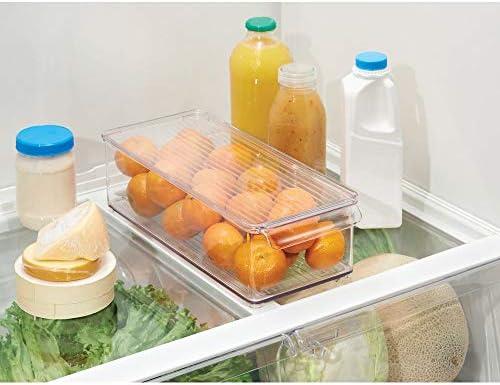 mDesign Caja organizadora con tapa para la cocina - Cajonera de ...