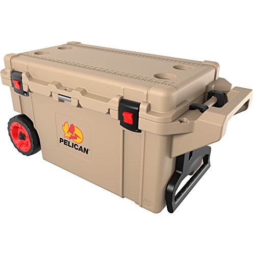 Pelican 45QW | 42.59 Liter Elite Cooler with Wheels Tan