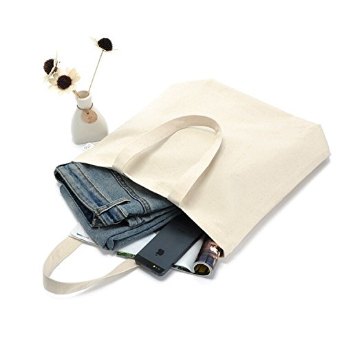 Tutoy Canvas Borsa In Bianco Riutilizzabile Diy Spalla Tote Bag Shopping Shopper