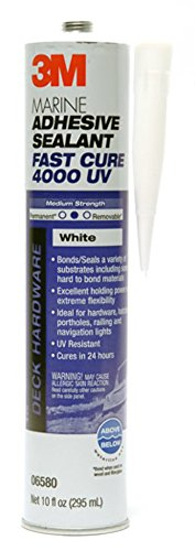 3M 06580 Marine Adhesive/Sealant Fast Cure 4000 UV, White / 1/10 Gallon from 3M