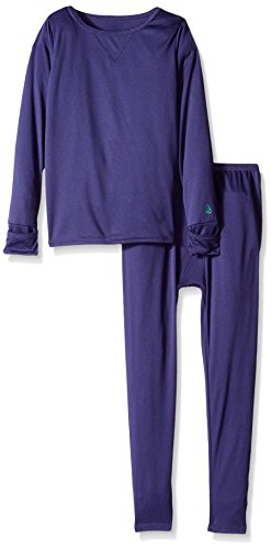 Cuddl Duds Toddler Boys' Climatesmart Essential Poly 2-Piece Set, Navy Solid 2T/3T