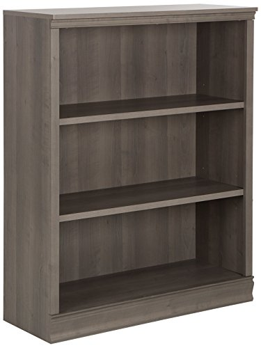 Outstanding South Shore Morgan Small 3 Shelf Bookcase Adjustable Shelves Grey Maple Download Free Architecture Designs Rallybritishbridgeorg
