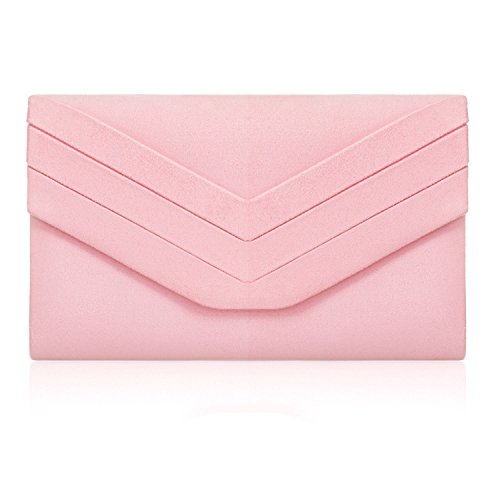 Bridesmaid Women Evening Party's Bags London Pink Medium Look Ladies Suede Faux New Clutch Prom Designer Envelope Xardi YxwCgqB4PP