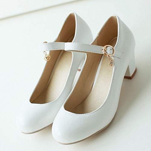 Melady Basic White 2 Shoes Low Women Heel Pumps grCxw5gqn4