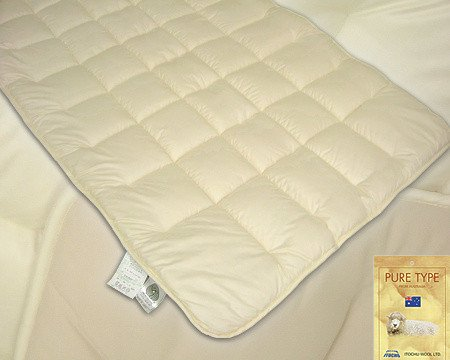 アルティマニット使用ウール100%ベッドパッド●ダブルサイズ B002WMDIUS